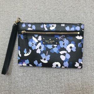 Kate Spade blue floral clutch